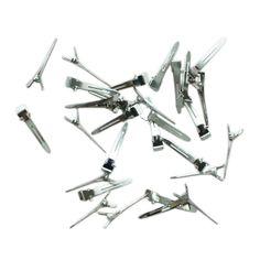 10pcs Metal Hair Clip Metal Single Prong Alligator Hair Clip Barrette Metal Crocodile Clip Hair Accessories