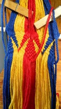 Starting a finger weaving project