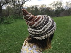 https://www.etsy.com/shop/TheMoonFaes?ref=search_shop_redirect  Pointed chunky crochet thick hat gnome goblin pixie fairy festival costume festy fashion weird hippy hippie bohemian elven woodland