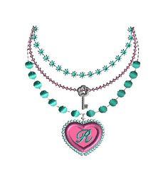 Heart Pendant Necklace Applique Machine Embroidery Design-INSTANT DOWNLOAD