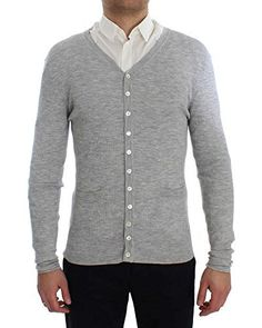 Product review for Dolce & Gabbana Gray Cashmere Ribbed Cardigan Sweater.  Dolce & Gabbana Absolutely stunning, 100% Authentic, brand new with tags Dolce & Gabbana gray ribbed cashmere cardigan sweater. Color: Gray Model: Cardigan Full front button closure Two front pockets Logo details  Material: 100% Cashmere Size Chart       Famous Words...