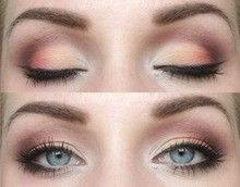 Peach eyeshadow makeup @ The Beauty ThesisThe Beauty Thesis