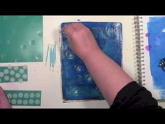 Carolyn Dube Gelli Printing with Circles on Homemade Tools with Carolyn Dube