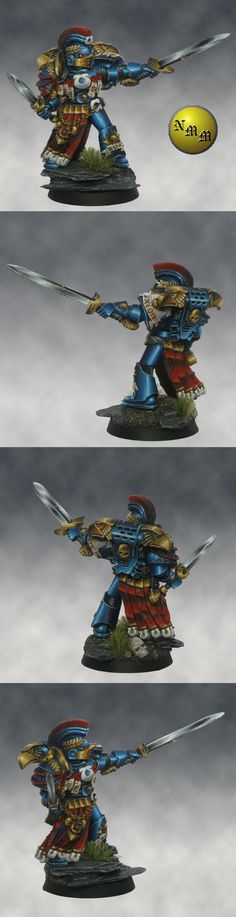 #Space_Marine #Conversion #Legionaire #NMM #Gold #Steel #Blue
