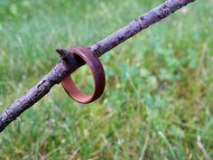 Bent wood ring wallnut-pear by Waeltaja1.deviantart.com on @DeviantArt