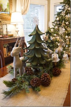Dining table Christmas centerpiece