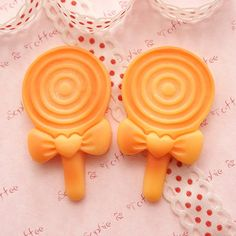 Big Kawaii Lollipop Baked Biscuit Cabochons - 4pcs. $4.40, via Etsy.