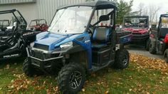 Used 2014 Polaris Ranger XP 900 EPS Blue Fire LE ATVs For Sale in New York. 2014 Polaris Ranger XP 900 EPS Blue Fire LE, One Owner with low miles in good condition. Serviced and ready to go! It has a canvas roof and poly windshield! 2014 Polaris® Ranger XP® 900 Blue Fire LE Hardest Working Features ALL-NEW, 60 HP PROSTAR® 900 ENGINE The all-new Polaris ProStar 900 engine features 60 HP, pumping out incredible, class-leading torque and pulling power. Electronic Power Steering (EPS) The…