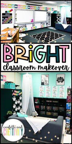 Bright Classroom Theme Decor Makeover