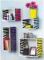 Teen Bedroom Zebra Print Wall Shelves