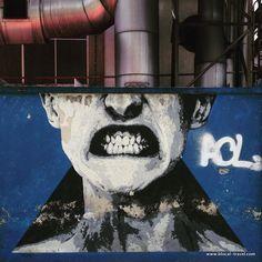 eime blue wall street art lisbon >> A comprehensive street art guide of Lisbon, Portugal - Read it here: http://www.blocal-travel.com/street-art/lisbon-street-art-guide/