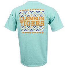 Clemson Tigers Aztec T-Shirt - Mint