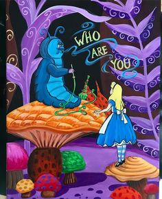 Alice In Wonderland Paintings, Alice In Wonderland Aesthetic, Alice In Wonderland Illustrations, Alice In Wonderland Characters, Alice In Wonderland Poster, Alice In Wonderland Pictures, Wonderland Party, Caterpillar Alice In Wonderland, Mini Canvas Art