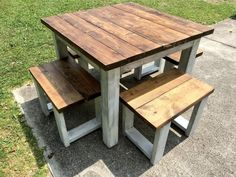 Wooden Outdoor Table, Pallet Dining Table, Rustic Table, 2x4 Table, Outdoor Tables, Outdoor Ideas, Backyard Ideas, Entryway Tables, Garden Ideas