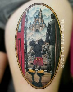Mickey Mouse & Walt Disney Holding Hands | Best tattoo ideas & designs