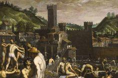 Domenico Cresti's Bathers at San Niccolo (1638). Estimate $700-000-$900,000 000), courtesy of Sotheby's