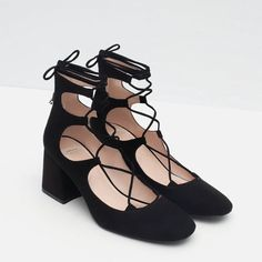 Aliexpress.com : Buy 2016 SS New chic elegant ladies black flock lace up ankle strap pumps sueare toes med high thick heels shoes women fashion shoes from Reliable shoes formal suppliers on  Lulu & Co.