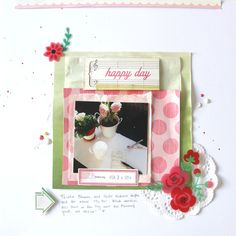 Happy Day. by ScatteredConfetti  // #scrapbooking #scatteredconfetti #cratepaper