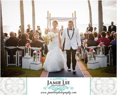 8th Avenue South | Naples Wedding Photographer | Jamie Lee Photography | Bride and Groom Leaving Outdoor Beach Ceremony