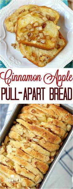 Cinnamon Apple Pecan Pull-Apart Bread #bread #apple #dessert #fall #easy #ideas