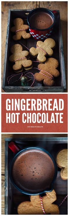 This gingerbread hot chocolate recipe is sweet and so easy to make during the fall, winter, and/or holiday seasons.