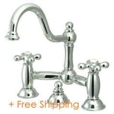 """Kingston Brass Two Handle 8"""" Widespread Lavatory Faucet with Brass Pop-up Polished Chrome KS3911AX"""