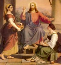 JESUS WITH MARY AND MARTHA: Show favor, O Lord, to your servants and mercifully increase the gifts of your grace, that, made fervent in hope, faith and charity, they may be ever watchful in keeping your commands. Through our Lord Jesus Christ, your Son, who lives and reigns with you in the unity of the Holy Spirit, one God, for ever and ever. Amen.