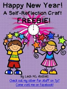FREEBIE...Includes 2015-2017 ~This craft is designed to help students reflect on what they LOVE about themselves as well as things that they can work on (resolutions).
