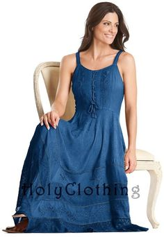 Riona Bustier Corset Empire Gypsy Peasant Boho Maxi Sun Dress ~ I believe I also need this