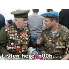 Check out: Listen here noob. One of our funny daily memes selection. We add new funny memes everyday! Bookmark us today and enjoy some slapstick entertainment! Funny Images, Best Funny Pictures, Funny Photos, Naruto Shippiden, Video Game Memes, Military Humor, Military Man, Army Humor, Manga Anime