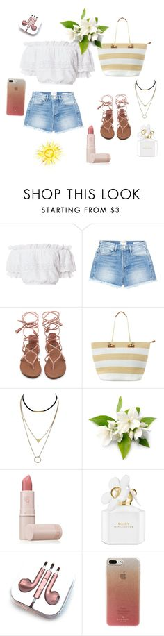 """🙂"" by ellenvolchanina ❤ liked on Polyvore featuring LoveShackFancy, Frame, Phase Eight, Lipstick Queen, Marc Jacobs, PhunkeeTree and Kate Spade"
