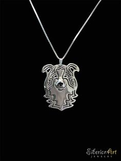 Border Collie jewelry  sterling silver dog by SiberianArtJewelry, $99.00