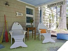 http://beautifullycoastal.com/wp-content/uploads/2012/01/how-to-decorate-a-beach-porch.png WONDER WHERE TO GET OR MAKE THE CHAIRS. love love love