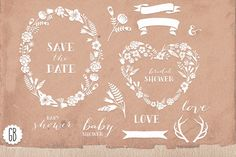 Check out Flower wreaths papel picado vector by GrafikBoutique on Creative Market