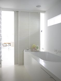 sliding doors + bathroom