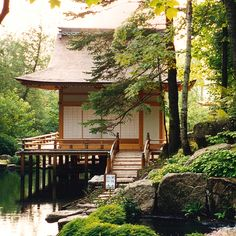 See on our site a beautiful Japanese garden structure complex in Quebec, Canada. It includes 2 traditional viewing pavilions, a machiai, a Japanese gate.