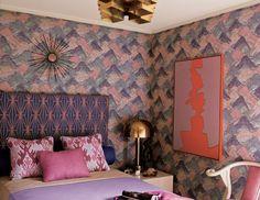 pink 60s bedroom
