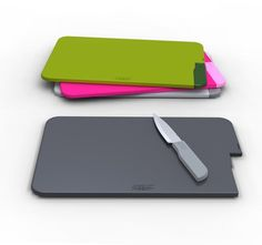 Slice and Store | Chopping board with incorporated knife by Joseph Joseph