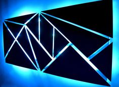 Fracture - Metal Wall Art - Lighted Wall Art - Metal Wall Sculpture - Modern Wall Art - Geometric Wall Art - Abstract Art - LED Art by DV8Studio on Etsy https://www.etsy.com/listing/500254463/fracture-metal-wall-art-lighted-wall-art