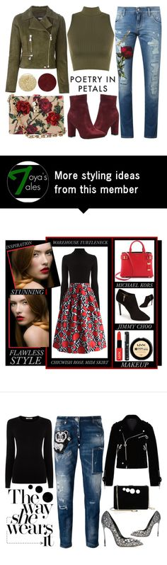 """""""Poetry In Petals"""" by latoyacl on Polyvore featuring Dolce&Gabbana, Versus, WearAll, Lancôme and Burberry"""