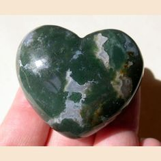 Beautiful Inclusions - 45mm Heart Carving - Natural Gemstone - Moss Agate | eBay  (6/8/2013) Hearts, My Favorite Shape (CTS)