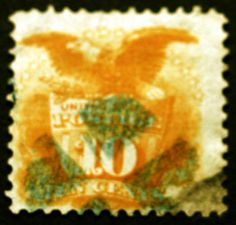 #116 10c Yellow 1869 VF Used Rare Ultra Cancel Rare CV $400++  – Classic Collector Stamp Sale Visit LittleArtTreasures.com