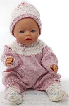 Stricken für baby born - Super niedliche Babykleidung für Ihre Puppe