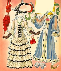Alice Faye Glamorous Movie Star Paper Dolls & Costumes, Merrill #4800, page 7