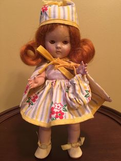Vintage Vogue Strung Transitional Ginny Doll #Vogue #DollswithClothingAccessories