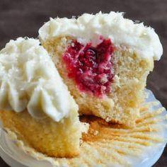 Raspberry Vanilla Cream Cheese Cupcakes