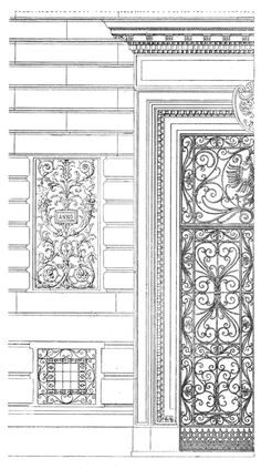 Vienna. Hohenstaufengasse, 3. Architect Otto Wagner. The architecture of the second half of the XIX century. Drawings and sketches.