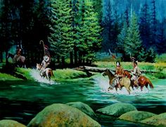 Hank Ford painting Eskimo, Native American Paintings, American Indians, Westerns, Ford, Image, Native Americans, Arctic, Central America