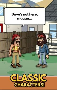 #wattpad #historical-fiction Cheech and Chong Bud Farm Hack - Cheat to Generate Resources App Description Far out man! Welcome to the official Cheech and Chong mobile game. Come back in time to the 70s in the early days of Bud Farm where Cheech and Chong have stumbled across a sleepy little town in California. Cheech and Chong... Farm Hacks, Christmas Tree Tops, Cheech And Chong, Some Games, Infancy, Game Item, Simulation Games, Back In Time, Mobile Game