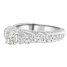 Amazing CZ Vintage Style Engagement Ring  by CZsparkleJewelry